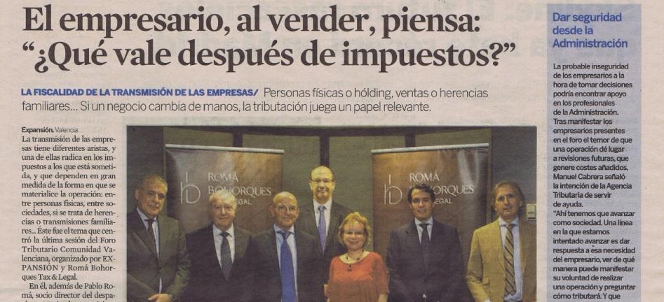 José Ignacio Lluch, socio director de Main, participa en el Foro Tributario Comunidad Valenciana