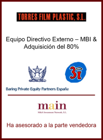 3i - Baring Private Equity Partners España - Torres Film Plastic